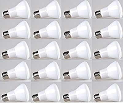 20-pack Bioluz LED Br20 LED Bulb 7w (50w Equivalent) 2700K Warm White 550 Lumen Smooth Dimmable Lamp - Indoor / Outdoor UL Listed (Pack of 20)