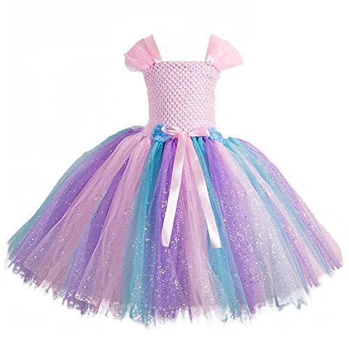 Girls 2pcs Tutu Princess Dress Set - 1980s Lace Tutu Dress for Costumes Dress up Performance Daily