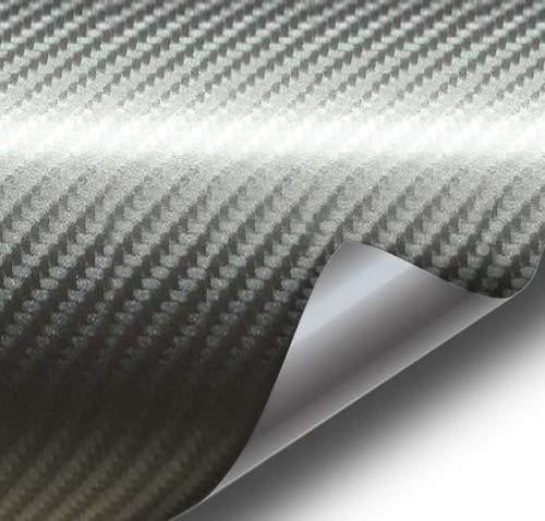 VViViD Meteorite Dark Grey True R Carbon Fiber Vinyl Wrap Roll with Air Release Technology (3ft x 5ft)
