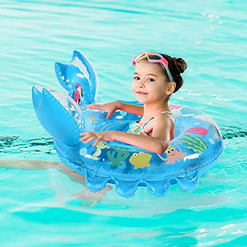Sealive Crab Cartoon Pool Float for Kids Baby Child, Swim Ring Water Sports Inflatable Float ,Swimming Laps Rings Seat Boat Toys for Boys Girls with 0-4 Years(1 Pack)