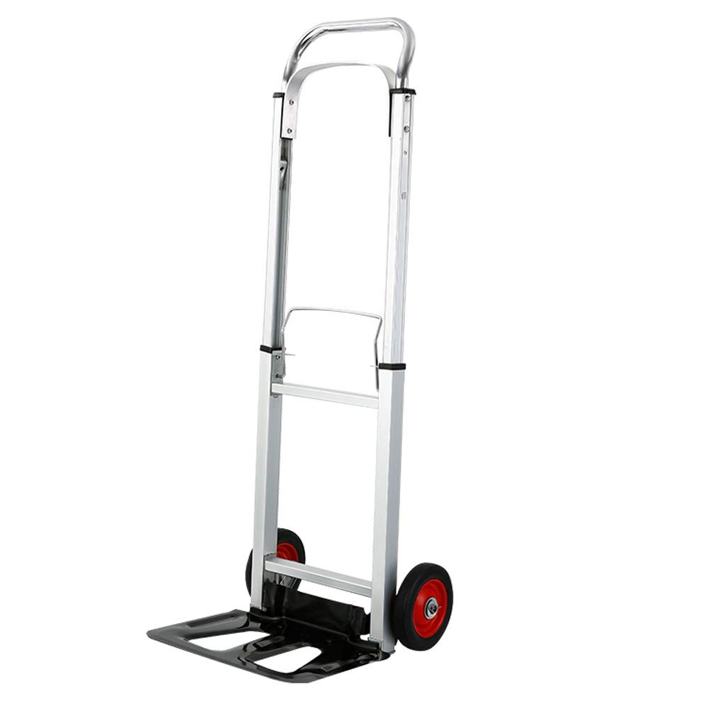Xilinshop Portable Utility Carts Multifunctional Thickening Household Pull Truck Folding Portable Trolley Outdoor Load Trolley