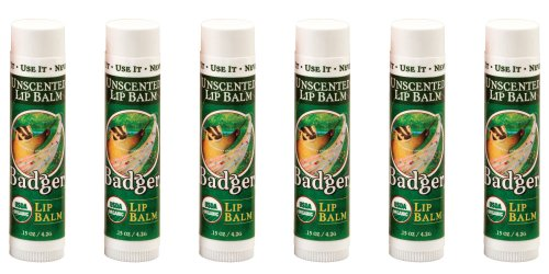 Badger Unscented Lip Balm - 3