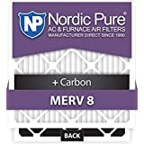Nordic Pure 20x25x5L1M8+C-4 Lennox X6675 Replacement MERV 15 Plus Carbon AC Furnace Air Filters, Quantity 4