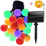 Solar Outdoor String Lights, 60 LEDs 8 Lighting Modes Waterproof Ball Fairy String lights for Garden, Patio, Christmas, Halloween, Wedding Party