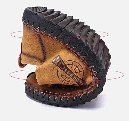Scarpe Gomma Suola di da da Passeggio morbide Indossabile Sportive Casual da Giallo Scarpe Uomo Pelle Lavoro Antiurto in Scarpe wXIx7cY