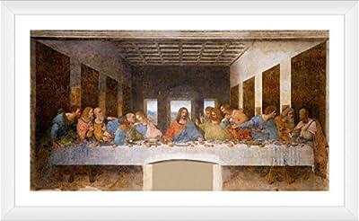 Alonline Art The Last Supper Leonardo Da Vinci FRAMED Cotton Canvas For Home Decor READY TO HANG Wall Art Museum Quality Frame Frames