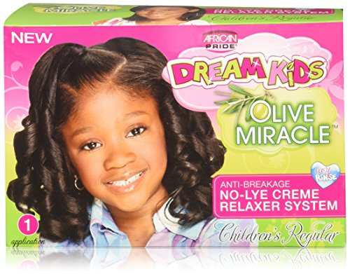 African Pride Dream Kids Olive Miracle Relaxer Kit, Regular ()