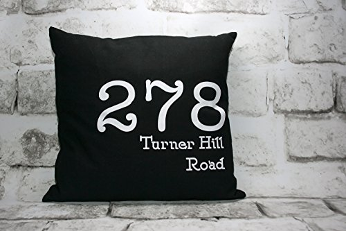 Custom Address Pillow Cover 16x16 inches