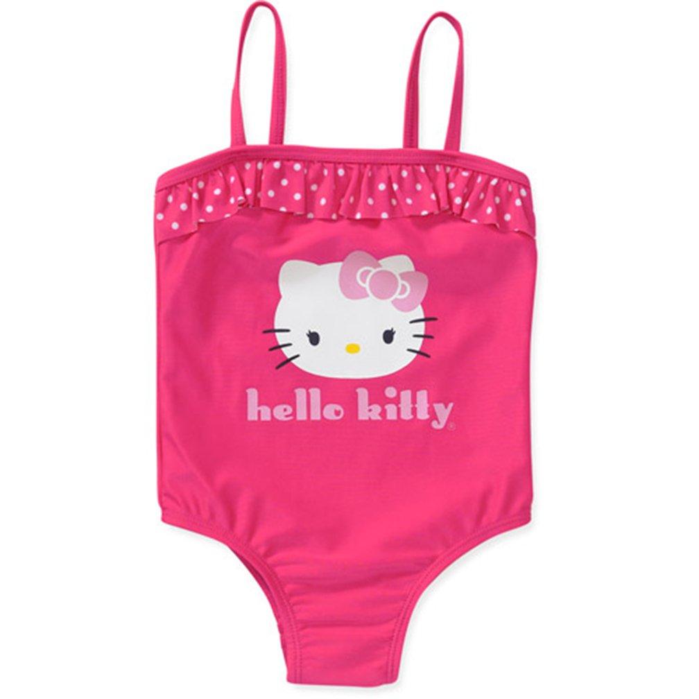 SANRIO Little Girls' Hello Kitty One Piece Ruffle Swimsuit