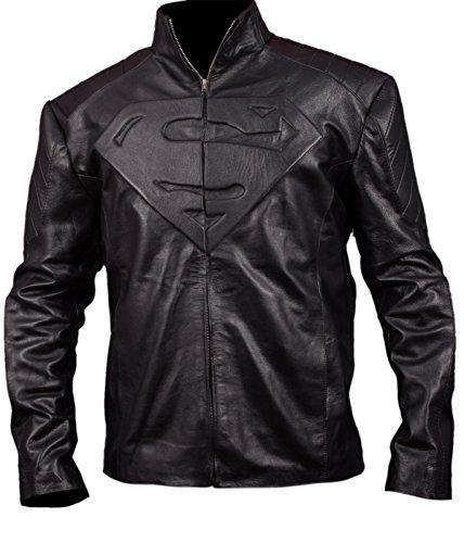 Tom Welling Superman Costume (F&H Boy's Superman Jacket L Black)