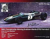 JACK BRABHAM HAND SIGNED 8x11 COLOR PHOTO+COA LEGENDARY FORMULA 1 DRIVER - Autographed Extreme Sports Photos by Sports Memorabilia