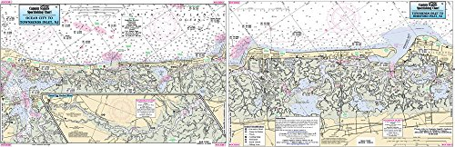 - OCEAN CITY TO WILDWOOD, NJ: - Laminated Nautical Navigation & Fishing Chart by Captain Segull's Nautical Sportfishing Charts | Chart # OCH361