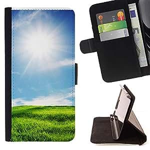 Momo Phone Case / Flip Funda de Cuero Case Cover - Naturaleza Hermosa Forrest Verde 4 - Samsung Galaxy S6 Edge Plus / S6 Edge+ G928