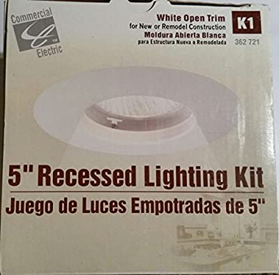Commercial Electric 5 in. White Recessed Lighting Kit