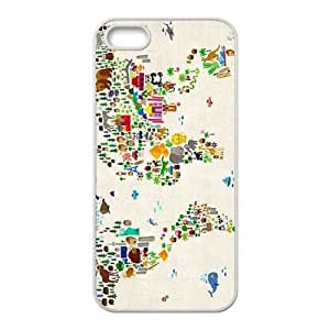 Custom New Cover Case for Iphone 5,5S, MAP Phone Case - HL-2962516