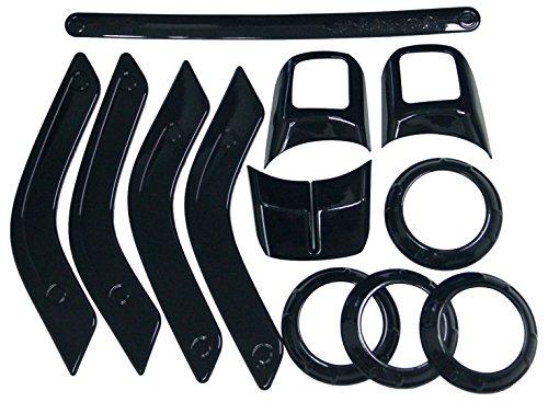 ICars Black Interior Trim Kit Decoration Steering Wheel Air Conditioning
