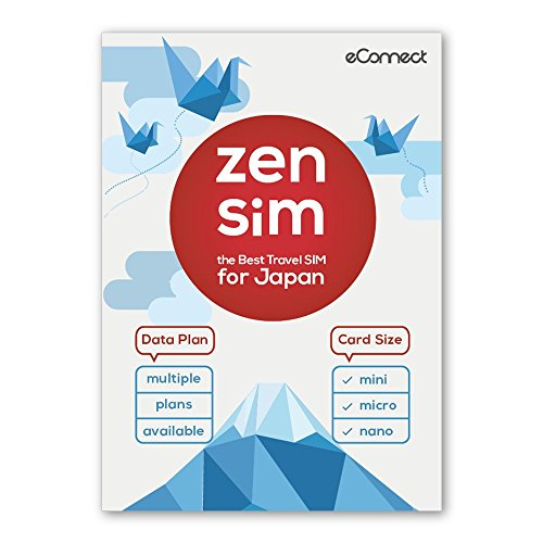 Zen SIM for Japan | High Speed, Flexible Data from 500MB to 5GB (Sold Separately) (Costa Del Nar)