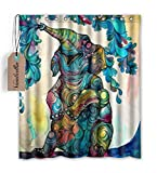 African Elephant 66(w)x72(h)Inch Bathroom Waterproof Shower Curtain Bath Curtains