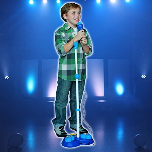 Super Star Kids Android iPhone MP3 Supported Microphone and Karaoke Stand - Blue by Kid Fun (Image #4)