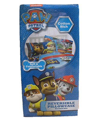 PAW Patrol Reversible Standard Pillowcase by Nickelodeon