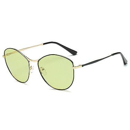 Peggy Gu Estilo Simple pequeña Forma Ovalada Gafas de Sol ...
