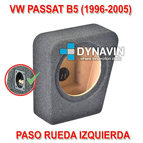 VW PASSAT B5 (1996-2005). RUEDA IZQ. - CAJA ACUSTICA PARA SUBWOOFER ESPECÍ FICA PARA HUECO EN EL MALETERO Dynavin CJ-VW.08