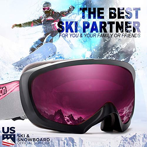 JK MOTION Ski Goggles-Anti Fog Snow Goggles Only $21.59
