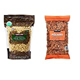 Kirkland Signature Organic Pine Nuts and Pecan Bundle - Includes Kirkland Signature Organic Pine Nuts (1.5 LB) and Pecan Halves (2.0 LB)