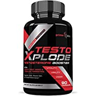 Testo Xplode Testosterone Booster for Men – Helps Build Muscle & Burn Fat, Boost Stamina, Energy & Endurance, Promotes Healthy Natural Weight Loss - (90 Capsules)