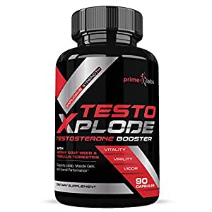 Testo Xplode Testosterone Booster for Men – Helps Build Muscle & Burn Fat, Boost Stamina, Energy & Endurance, Promotes Healthy Natural Weight Loss - (90 Caplets)