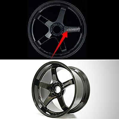 12.5cm2cm, White Letter Demupai Car Wheels Sticker Decal for Advan Racing GT Semi Gloss