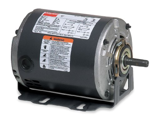 Dayton 3ZP92 Motor, 1/4 hp, 60Hz, Belt, Degrees_Fahrenheit, to Volts, Amps, ( (60 Hz Belt)