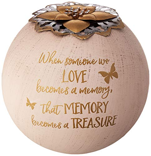 Pavilion Gift Company Round 5 Inch Tealight Candle Holder When Someone We Love, Memory Becomes A Treasure, 5.5 Inch Gold (Light A Candle In Memory Of Someone)