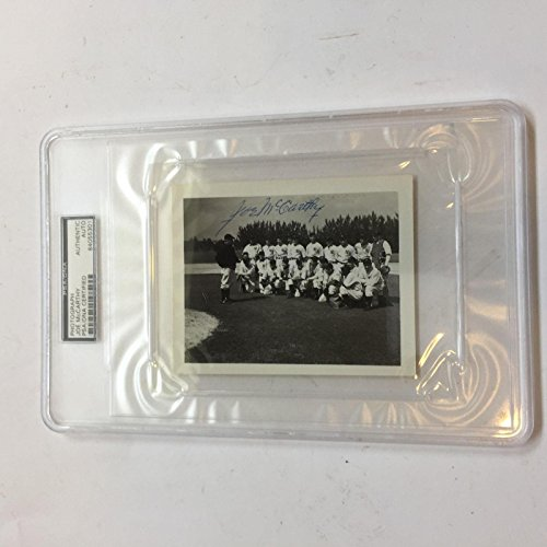 - Joe Mccarthy Signed 1930's New York Yankees Team Photo With COA - PSA/DNA Certified - Autographed MLB Photos