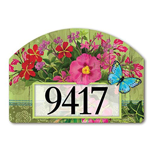 Yard Designs Address Magnet - Magnet Works MAIL71094 Mason Jar Bouquet Yard DeSign