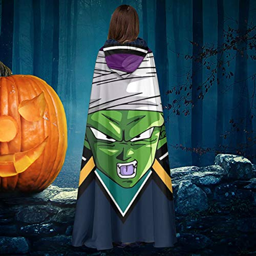 Mighty Ducks Halloween Costume (Dragon Ball Z Piccolo Mighty Ducks Mix Unisex Christmas Halloween Witch Knight Hooded Robe Vampires Cape Cloak Cosplay Costume)