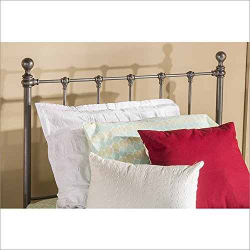 Hillsdale Molly Full Metal Duo Panel Headboard in Black Steel - Duo Panel Headboard