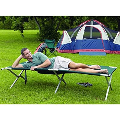 Texsport King Kot Giant Green 83in X 35in X 20in Folding Camp Cot