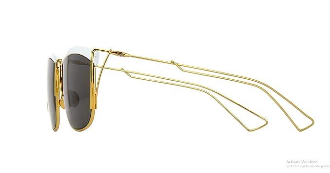 781c61f53e7 Amazon.com  Dior SoElectric Square Women Sunglasses (White Gold Frame