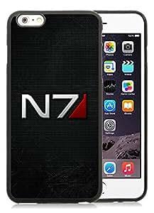 6 Plus TPU case,mass effect n7 font background shadow Black iPhone 6 Plus 5.5 inch TPU case
