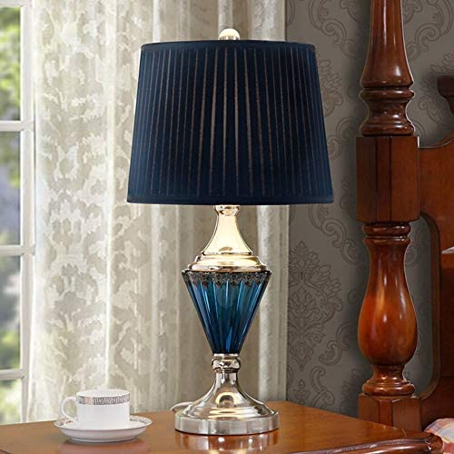 1. Table Lamp Bedroom Bed Dimming Living Room Bedroom Study Crystal Glass Hardware Chrome Base Creative Table Lamp 2.