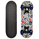 RudeBoyz 17 Inch Mini Wooden Cruiser Graphic Beginner Skateboard (RudeBoyz Design)