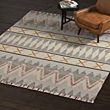 Rivet Southwestern Geometric Wool Rug, 5' x