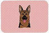 Caroline's Treasures Checkerboard Pink German Shepherd Mouse Pad/Hot Pad/Trivet (BB1211MP)