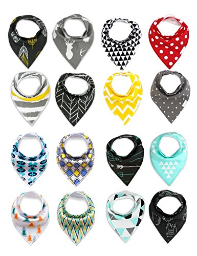 Aimeio Baby Bibs Infant Bandana Drool Bibs, Baby Boys Baby Girl 16 Pack, Soft Cotton Snaps, Cute Baby Gift (16 Pack (Funny But Cute Girl Halloween Costumes)