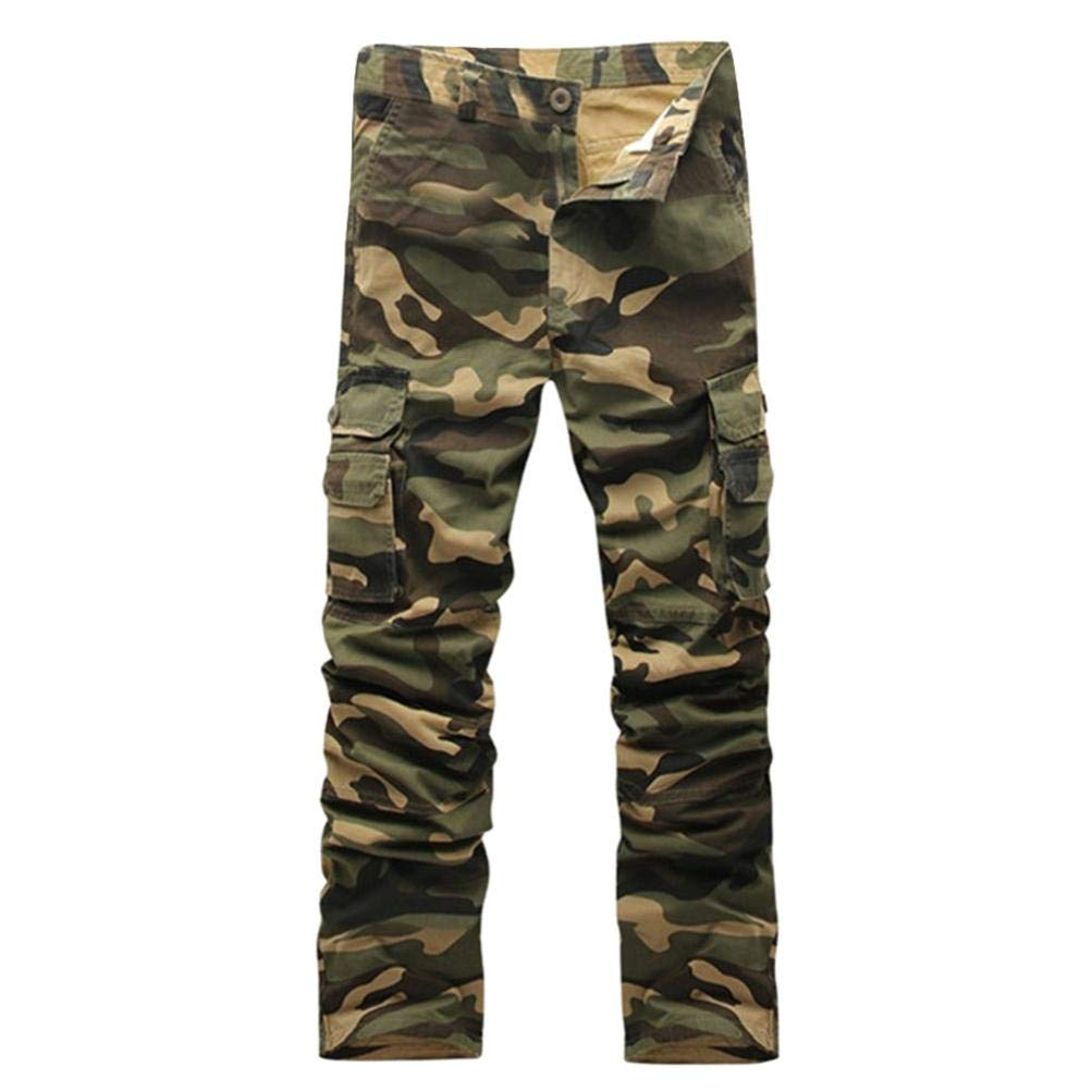 Realdo Hot!Clearance Sale Mens Daily Casual Camouflage Military Outdoors Work Trousers Sport Cargo Pants(28,Army Green)