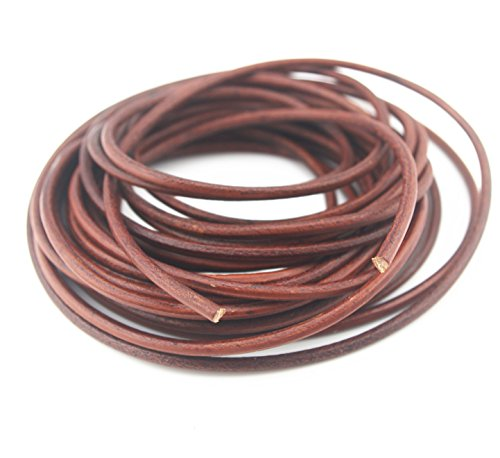 Glory Qin Soft Round Genuine Jewelry Leather Cord Leather Rope (4mm 10 Yards)
