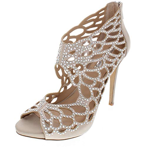 INC International Concepts Womens SARANE Fabric Open Toe, Bisque, Size 8.0 from INC International Concepts