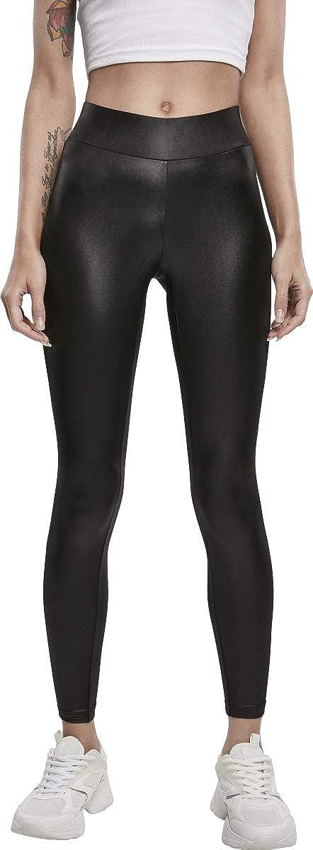 Urban Classics Ladies Imitation Leather Leggings Donna