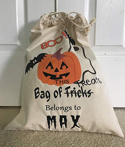 (Personalized Trick or Treat Bag - Halloween Bag - Candy Bag - Halloween Sack - Trick or Treat Bag - Personalized Halloween - Treat Bag)